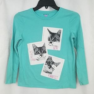 Children's Place Cat Tee Size Large